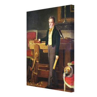 Portrait presumed to be Alfred de La Chaussee Canvas Print