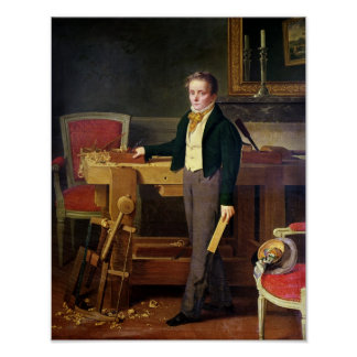 Portrait presumed to be Alfred de La Chaussee Poster