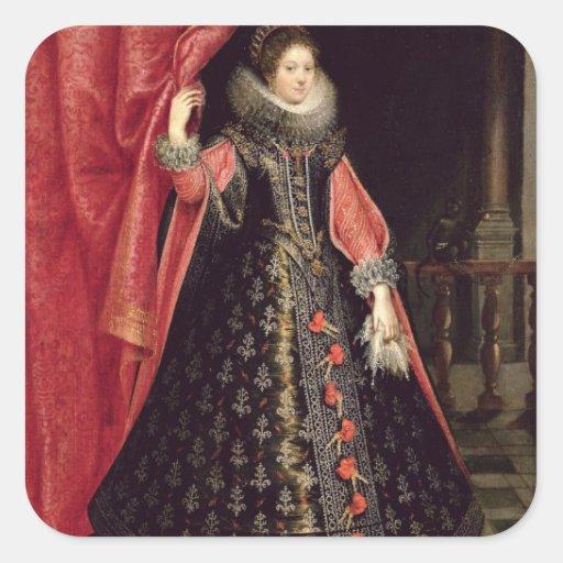 Portrait presumed to be Henrietta Maria of Square Sticker