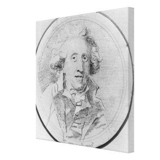 Portrait presumed to be Jean-Honore Fragonard Canvas Print