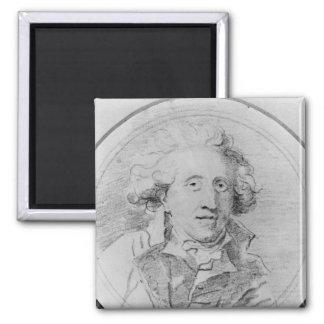 Portrait presumed to be Jean-Honore Fragonard Magnet