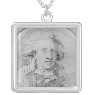 Portrait presumed to be Jean-Honore Fragonard Silver Plated Necklace