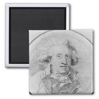 Portrait presumed to be Jean-Honore Fragonard Square Magnet