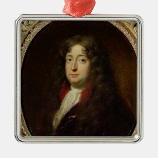 Portrait presumed to be Jean Racine Silver-Colored Square Decoration
