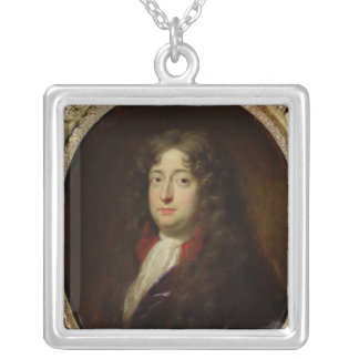 Portrait presumed to be Jean Racine Silver Plated Necklace