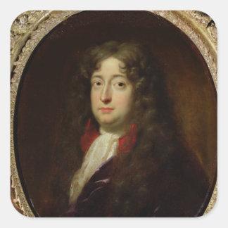Portrait presumed to be Jean Racine Square Sticker