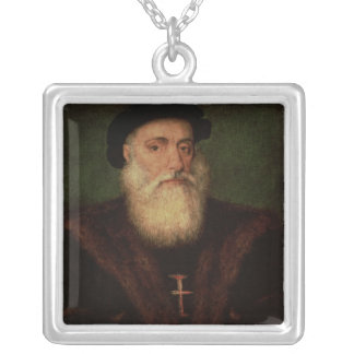 Portrait presumed to be of Vasco da Gama  c.1524 Silver Plated Necklace