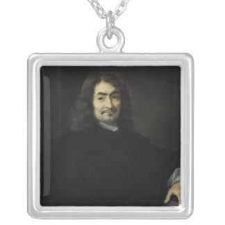 Portrait, presumed to be Rene Descartes Silver Plated Necklace
