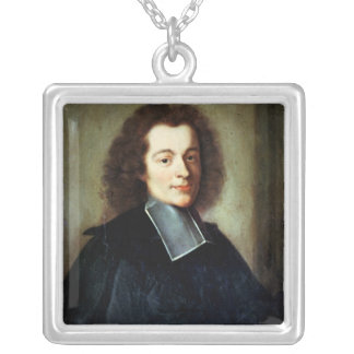 Portrait presumed to be Voltaire  as a young man Silver Plated Necklace