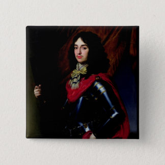 Portrait Prince Edward of Palatinate in Armour 15 Cm Square Badge