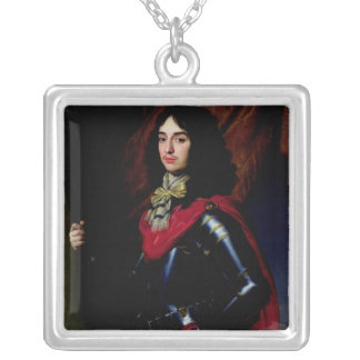 Portrait Prince Edward of Palatinate in Armour Silver Plated Necklace
