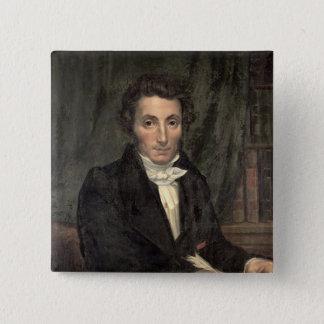 Portrait Rene of Caillie 15 Cm Square Badge