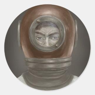 portrait round sticker
