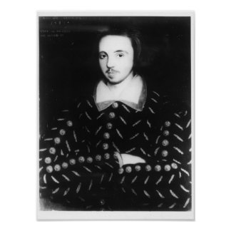 Portrait said to be Christopher Marlowe Poster