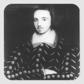 Portrait said to be Christopher Marlowe Square Sticker