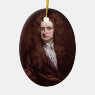 Portrait Sir Isaac Newton by Sir Godfrey Kneller Christmas Ornament