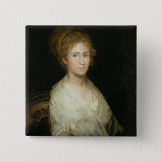 Portrait thought to be Josepha Bayeu (d.1812) wife 15 Cm Square Badge
