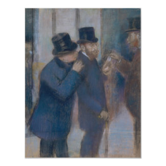 Portraits at the Stock Exchange by Edgar Degas 11 Cm X 14 Cm Invitation Card