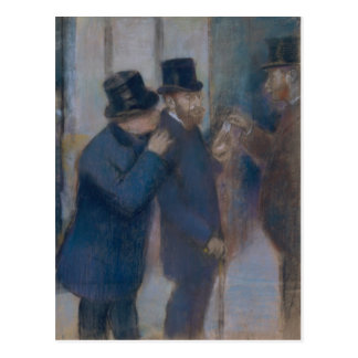 Portraits at the Stock Exchange by Edgar Degas Postcard