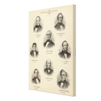 Portraits Governors of Wisconsin NP Talmadge Canvas Print