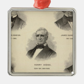 Portraits Governors of Wisconsin NP Talmadge Silver-Colored Square Decoration