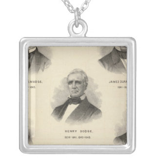 Portraits Governors of Wisconsin NP Talmadge Silver Plated Necklace