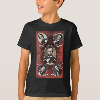 Portraits of Abraham Lincoln Vintage T Shirts
