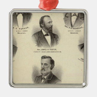 Portraits of BF Parker, TD Kanouse Christmas Ornament