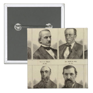 Portraits of Early Settlers of Minnesota 15 Cm Square Badge