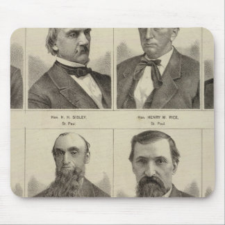 Portraits of Early Settlers of Minnesota Mouse Mat
