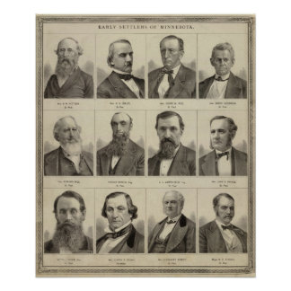 Portraits of Early Settlers of Minnesota Posters