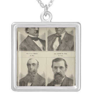 Portraits of Early Settlers of Minnesota Silver Plated Necklace