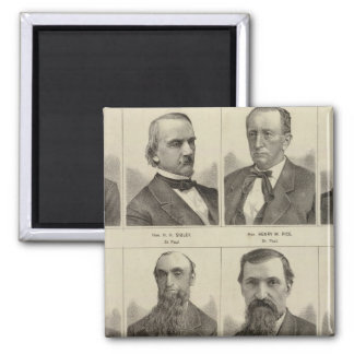 Portraits of Early Settlers of Minnesota Square Magnet
