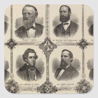 Portraits of EG Potter, Delano T Smith Square Sticker