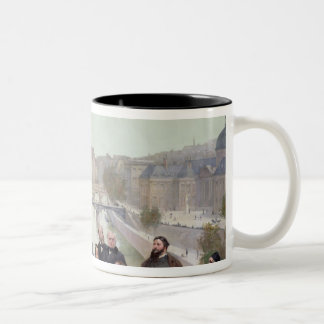 Portraits of French artists and authors Two-Tone Coffee Mug