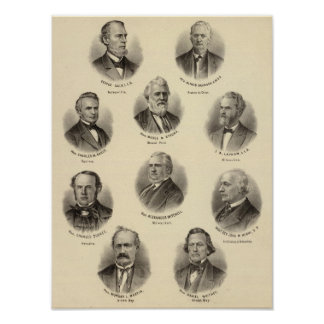 Portraits of George Gale, Alfred Brunson Poster