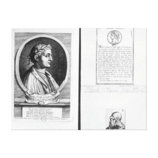 Portraits of Horace  Scipio Aemilianus Canvas Print
