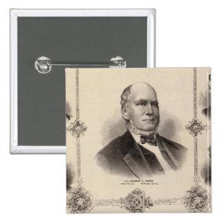 Portraits of Illinois Thirteen 15 Cm Square Badge