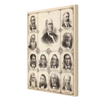 Portraits of Illinois Thirteen Canvas Print