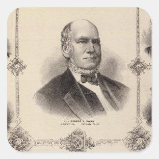Portraits of Illinois Thirteen Square Sticker