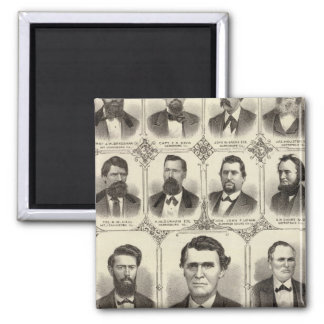 Portraits of John C Hall and Prof JW Bradshaw Magnet