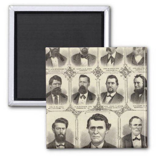 Portraits of John C Hall and Prof JW Bradshaw Fridge Magnets
