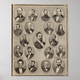 Portraits of John S Bender, Ancil B Ball Poster