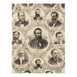 Portraits of LW Tubbs John Chaney CH Lane Postcard