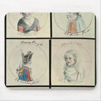 Portraits of Mary I  Edward IV Mouse Mat