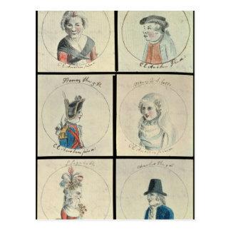 Portraits of Mary I  Edward IV Postcard