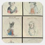 Portraits of Mary I  Edward IV Square Sticker