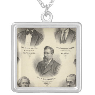 Portraits of Peter Doyle, Ferdinand Kuehn Silver Plated Necklace