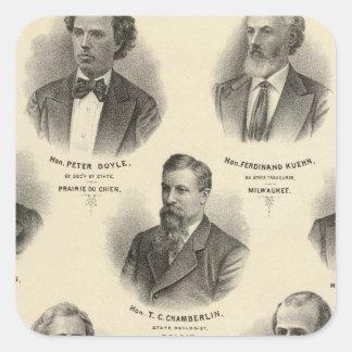 Portraits of Peter Doyle, Ferdinand Kuehn Square Sticker