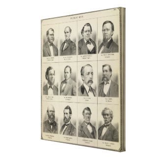 Portraits of Public Men, Minnesota Canvas Print